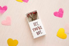 You can make matchbox Valentines with this easy Valentine's Day printable DIY project.