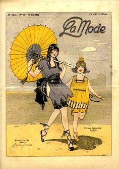 La Mode, magazine cover, 1919