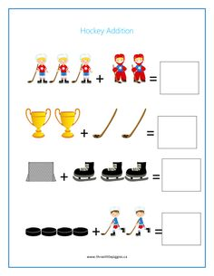 Super cute, fun hockey activities Three Little Piggies, Seasons Activities, Prep School, Early Education, Worksheets For Kids, Olympic Games, Kids Playing, Olympics, Hockey