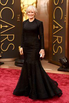 Glenn Close in custom ZacPosen at The Oscars 2014