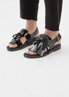 Marni Tassel Sandal (Black)