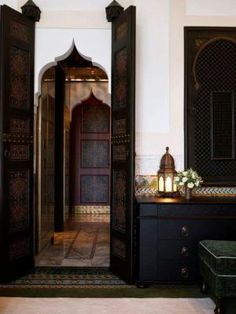 Moroccan house by roxanne. Love the doorway shape.