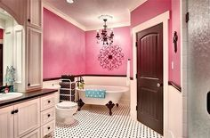 The girls bathroom - Indian Lakes: Residence 1 by Ellis Custom Homes, LLC My Home Design, House Design, Lodge Style, Bathroom Styling, Bathroom Ideas, Beautiful Bathrooms, My Dream Home, Dream Homes, Home Projects