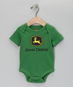 Another great find on #zulily! Green Logo Bodysuit - Infant #zulilyfinds