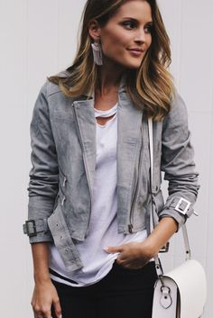 urban outfitters dusty suede biker grey moto jacket