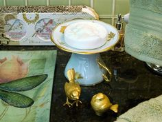crystals, fashion, cups, bathrooms, thrift store finds, teacup, powder rooms, soap dishes, china
