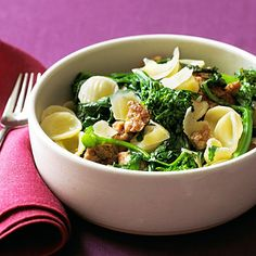 Orecchiette with Sausage and Broccoli Rabe - Masterful Pasta Recipes - Sunset
