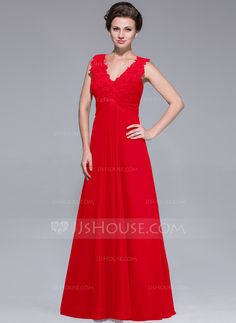 A-Line/Princess V-neck Floor-Length Ruffle Lace Beading Sequins Zipper Up Regular Straps Sleeveless No 2014 Other Colors General Plus Chiffon Mother of the Bride Dress