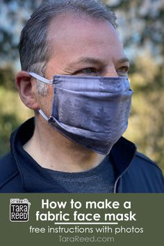 FREE TUTORIAL: Homemade fabric masks do not stop the spread of small particles, like the virus but hospitals and caregivers are asking for them just in case. If you sew and want to make these… Easy Face Masks, Homemade Face Masks, Diy Face Mask, Small Sewing Projects, Sewing Projects For Beginners, Sewing Ideas, Sewing Crafts, Diy Projects, Sewing Elastic