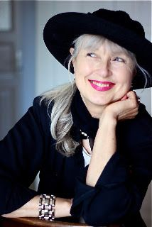 Writer Sabine Reichel. Great hat and smile.