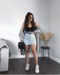 Trendy Fall Outfits, Edgy Outfits, Winter Fashion Outfits, Cute Casual Outfits, Look Fashion, Pretty Outfits, Spring School Outfits, Classy Outfits For Teens, Fashionable Outfits