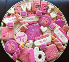 Sweet sixteen cookies