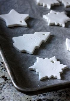Children can make, shape and bake hanging decorations for Christmas. Salt Dough, Clay, Biscuits Cookies