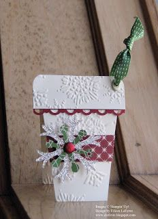 "Eileen's ""Stampin' Fever"" Blog, ge of good cheer dsp, northern flurry folder, snow flurry die, scallop trim border punch, glimmer brad"