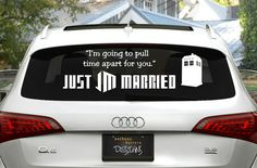 Dr. Who Just Married Wedding Vinyl Window by AnthonyHerreraDesign, $23.00