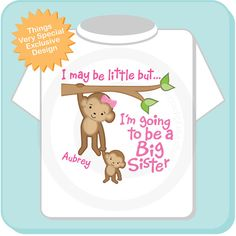 64a5d7cd9 Big Sister Shirt or Onesie, I may be little but, I'm Going to Be A Big  Sister Shirt or Onesie, Personalized Big Sister Shirt 03132014h