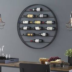 Buy the Label View Wall Wine Rack at Wine Enthusiast – we are your ultimate destination for wine storage, wine accessories, gifts and more! Hanging Wine Glass Rack, Wine Rack Wall, Wall Mounted Wine Racks, Wine Wall Decor, Wine Rack Design, Wine Bottle Rack, Bottle Labels, Wine Bottles, Bottle Stopper