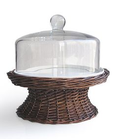Take a look at this Willow Domed Pedestal Cake Plate by Jay Import on #zulily today!