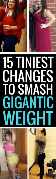 15 teeny tiny changes to lose weight fast and for good.