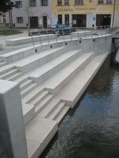 Riverbank on Masaryk Square in Letovice town, Czech republic, autor Jana Kastankova, 2011 Czech Republic, Stairs, Design, Home Decor, Author, Stairway, Decoration Home, Staircases, Room Decor