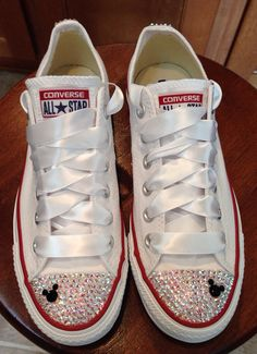 90ee747b3f34 Mickey Mouse ADULT bling Converse by Munchkenzz on Etsy