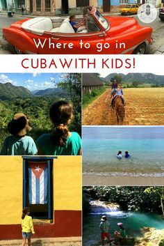 Where to go in Cuba with Kids: In this family-friendly itinerary we share our tips on where to go in Cuba with kids, together with video tours highlighting our favourite places on this colourful, Caribbean island. Travel With Kids, Family Travel, Family Vacations, Places To Travel, Travel Destinations, Travel Tips, Travel Ideas, Cuba Itinerary, Cuba Beaches