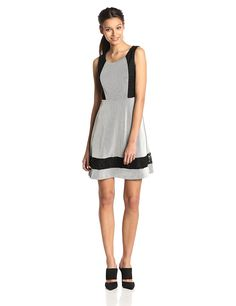 Jessica Simpson Women's Sleeveless Texture Knit Fit and Flare Dress * Discover this special product, click the image : Women clothing