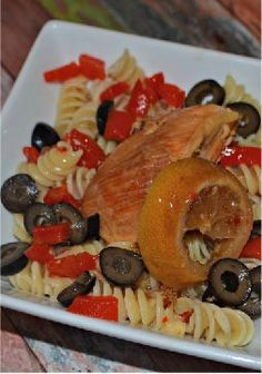 Slow-Cooker Italian Chicken and Noodles -- Recipe and Photo by Blogger, Alison Wright of www.beingalison.com