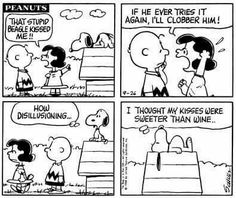 Snoopy's kisses are sweeter than wine