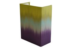 Aubergine/Lime ikat Small Rectangular Shield wall shade