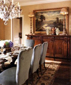 Beautiful Classic Dining Room, Textured Wallpaper, Black Accents, A Great  Chandelier Makes The Room | D E C O R A T E | Pinterest | Textured  Wallpaper, ...