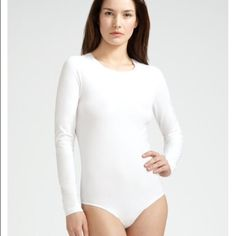 White Bodyfusion Bodysuit COMING SOON!!! White Bodyfusion Bodysuit by Pony Express featuring a scoop neck and 3/4 length sleeves. Brand new with packaging. Great staple layering piece for your wardrobe. Wear as a base layer under your outfit, or to take a dance class! Live in love.   No Trading   Bundling Available  Fast Shipping    Holds for over $50 for 24 hrs only Bodyfusion Other