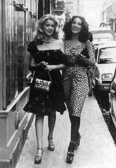 Catherine Deneuve and Bernadette Laffont, 1975