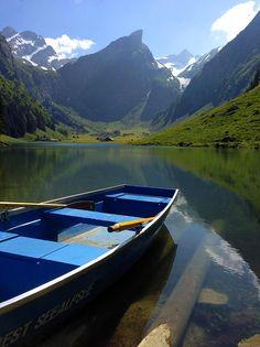 Lake Seealpsee, Alpstein, Canton Appenzell