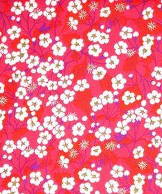 Liberty - Mitsi Hot Pink * PRE-ORDER * - Alice Caroline - Liberty fabric, patterns, kits and more - Liberty of London fabric online Liberty Art Fabrics, Liberty Of London Fabric, Liberty Print, Motif Liberty, Textiles, Textile Patterns, Floral Patterns, Textile Art, Petunia
