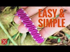 Easy and beautiful macrame bracelet - The most simple way to make a bracelet with beads - YouTube