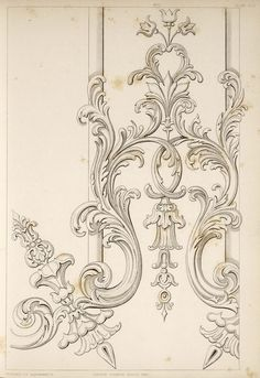 Discover thousands of images about This set includes quite a few cool antique ornamentation designs in baroque/victorian/rococo style. Motif Arabesque, Ornament Drawing, Baroque Design, Art Decor, Decoration, Carving Designs, Architectural Elements, Wood Carving, Kitsch