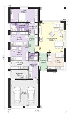 Kliknij aby powiększyć Family House Plans, Best House Plans, Small House Plans, Home Design Plans, Plan Design, Parenting Plan, House Layouts, Architecture Plan, Modern House Design