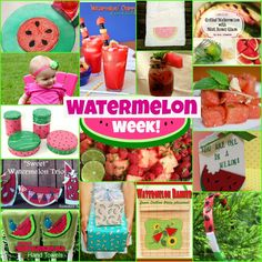 Great ideas, awesome recipes, and cute craft projects; all with a watermelon theme! #crafts