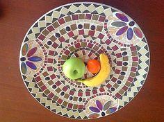 Fruitschaal,mozaiek