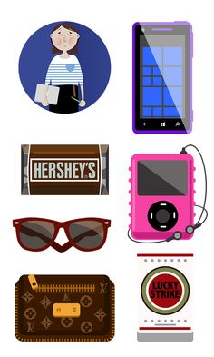 vector icon design by effy zhang, via Behance