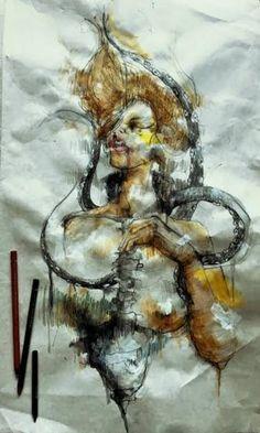"Saatchi Art Artist Hasti Sadeghi; New Media, ""Gly Spaghetti con Il pesce - Limited Edition 1 of 20"" #art"