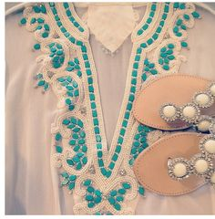 Bata Bordada Kaftan, Cruise Wear, Palm Beach Sandals, Embroidery, My Style, Outfits, How To Wear, Clothes, Spring