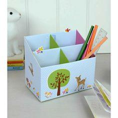 Boite porte-crayons faon en carton - La Folle Adresse