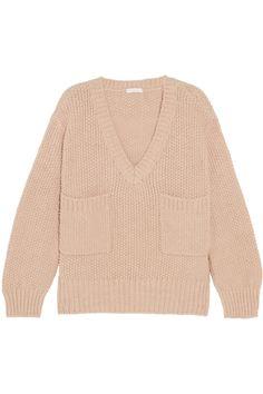 Chloé | Oversized knitted sweater | NET-A-PORTER.COM  45% acetate, 40% alpaca, 15% wool