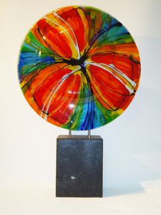 Ellen Janssen glaskunst - fusing glas - tweezijdig object