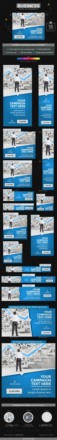 """Business Web Banners Template PSD. Download here: <a href=""""http://graphicriver.net/item/business-banners/15657968?ref=ksioks"""" rel=""""nofollow"""" target=""""_blank"""">graphicriver.net/...</a>"""