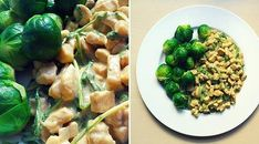Low Carb Rezept für leckeres Hähnchen-Geschnetzeltes mit Rucola und Rosenkohl. Wenig Kohlenhydrate und einfach zum Nachkochen. Super für Diät/zum Abnehmen.
