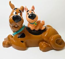 Rare and Mysterious Scooby and Scrappy Doo Cookie Jar Warner Brothers 90's