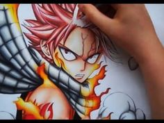 Drawing Natsu Dragneel from Fairy Tail - YouTube